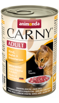 Animonda Carny Adult Cat курица с уткой и говядиной