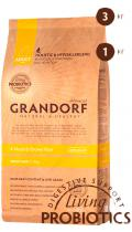 Grandorf 4 Meat & Brown Rice Adult Mini с пробиотиками