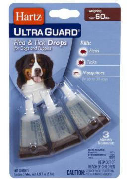 Hartz UltraGuard Flea&Tick 3in1 капли для собак от 28 кг в зоомагазине PetChoice