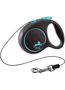Flexi Рулетка Black Design XS 3м до 8кг трос в зоомагазине PetChoice