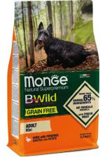 Monge BWild Grain Free Mini Adult с уткой