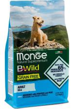 Monge BWild Grain Free Mini Adult с анчоусами