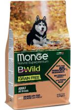 Monge BWild Grain Free All Breeds Adult с лососем