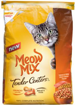 Meow Mix Tender Centers Salmon & Chicken