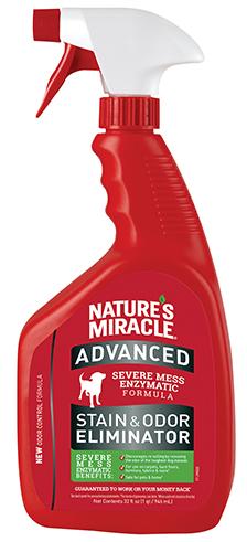 8in1 680104/7016 8in1 Nature's Miracle Advanced Formula Спрей усиленной формулы от собачьих пятен и запахов, 946 мл