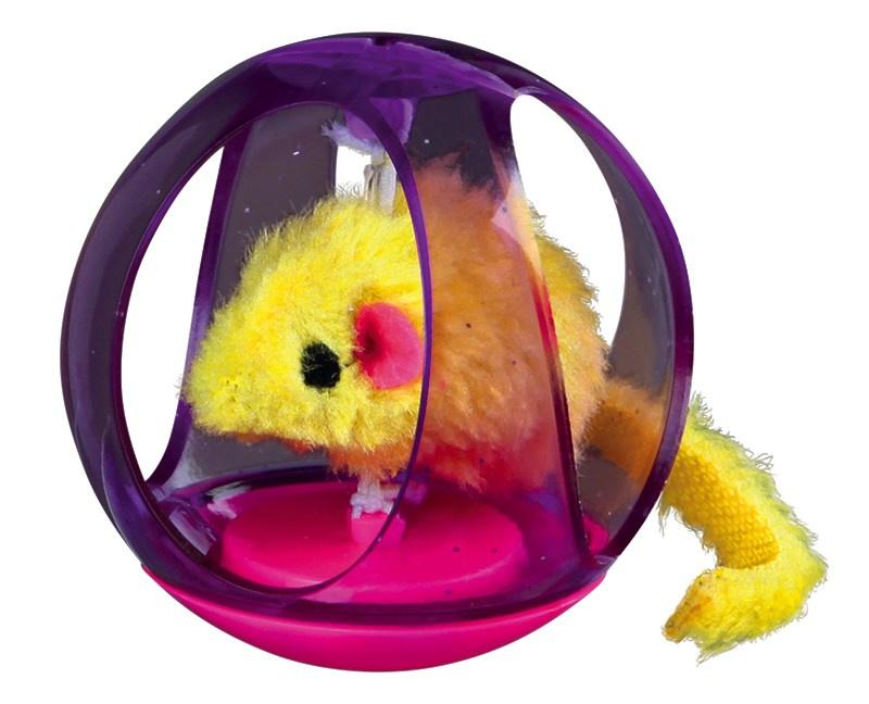 trixie 4090 Trixie Мяч с мышью, 6 см
