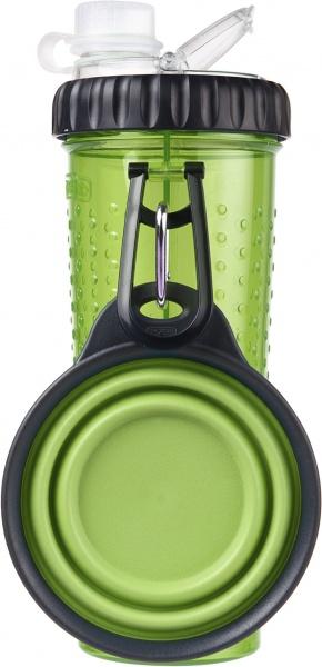 dexas dx30759 Dexas Бутылка двойная для воды и корма со складной миской 720 мл, голубая