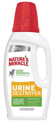 8in1 680074 8in1 Nature's Miracle Urine Destroyer Уничтожитель пятен и запахов собачей мочи, 946 мл