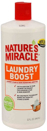 8in1 680223/5556 8in1 Nature's Miracle Laundry Boost Уничтожитель пятен и запахов для стирки, 946 мл