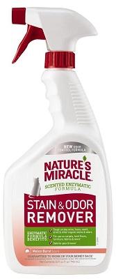 8in1 680210/6976 8in1 Nature's Miracle Stain & Odor Remover Уничтожитель кошачьих пятен и запахов с запахом дыни, 946 мл