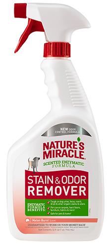 8in1 680197/6966 8in1 Nature's Miracle Stain & Odor Remover Уничтожитель собачьих пятен и запахов с ароматом дыни, 946 мл