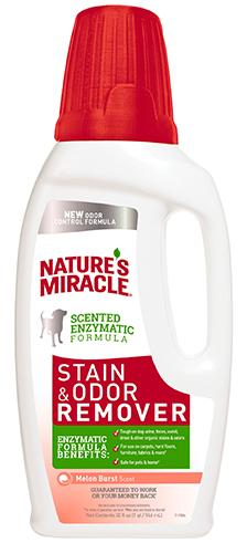 8in1 680265/8110 8in1 Nature's Miracle Stain & Odor Remover Уничтожитель собачьих пятен и запахов с ароматом дыни, 946 мл