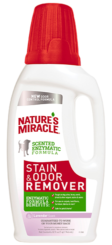 8in1 680241/8108 8in1 Nature's Miracle Stain & Odor Remover Уничтожитель собачьих пятен и запахов с ароматом лаванды, 946 мл