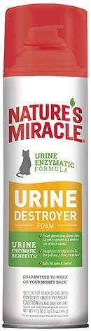 8in1 680166/6949 USA 8in1 Nature's Miracle Urine Destroyer Пена уничтожает пятна и запахи кошачьей мочи, 518 мл