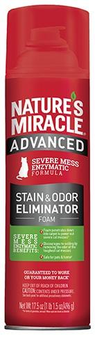 8in1 680142/6947 USA 8in1 Nature's Miracle Advanced Formula Пена усиленной формулы от кошачьих пятен и запахов, 518 мл