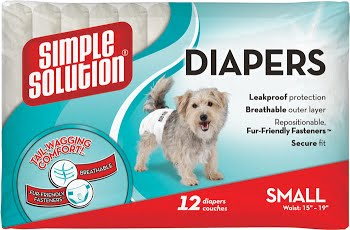 simple solution ss10576 Simple Solution Disposable Diapers Подгузники для собак, 30 штук, S