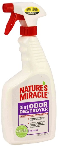 8in1 680194 /5451 8in1 Nature's Miracle 3in1 Odor Destroyer Спрей для удаления запахов без аромата, 709 мл