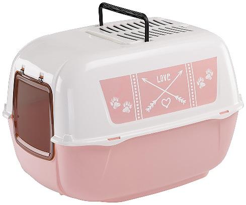 ferplast 72053716 Ferplast Prima Decor Pink Закрытый туалет, 52,5х39,5х38 см