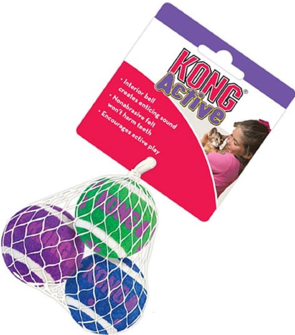kong 34066 Kong Tеnnis Balls для котов, 4 см