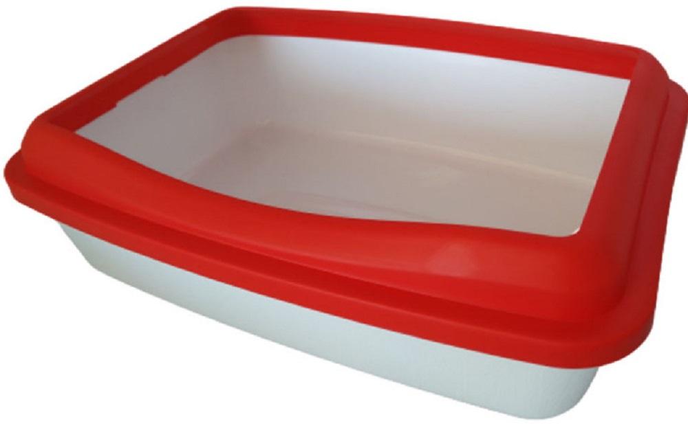 animall 113763 AnimAll Р952 Туалет с бортиком полупрозрачный, красный