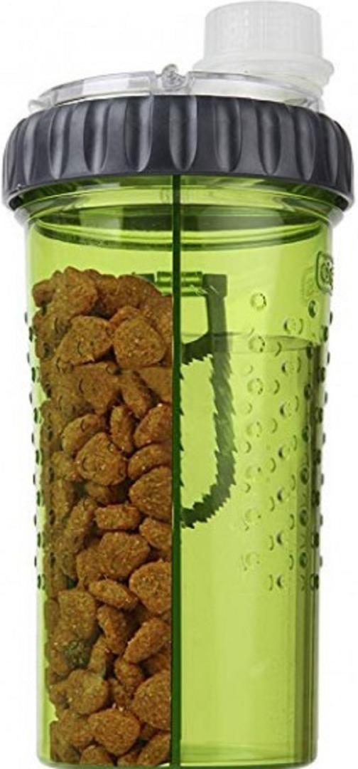 dexas dx30810 Dexas Snack-Duо Бутылка двойная для воды и корма 480 мл, голубая