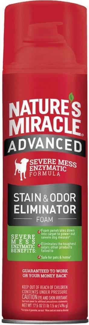 8in1 680135/6946 8in1 Nature's Miracle Advanced Dog Stain & Odor Eliminator Аэрозоль-пена с усиленным действием от запахов собак, 518 мл