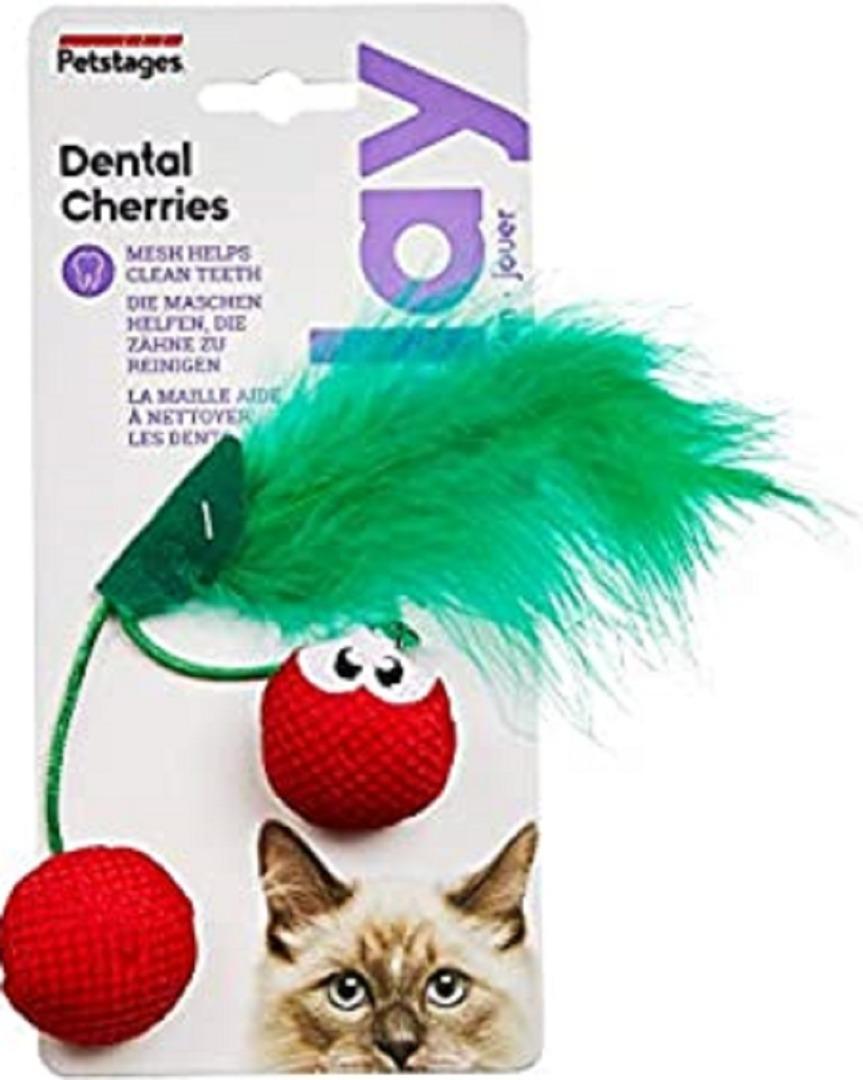 petstages pt67833 Petstages Dental Cherries Игрушка вишня для котов, 17 см