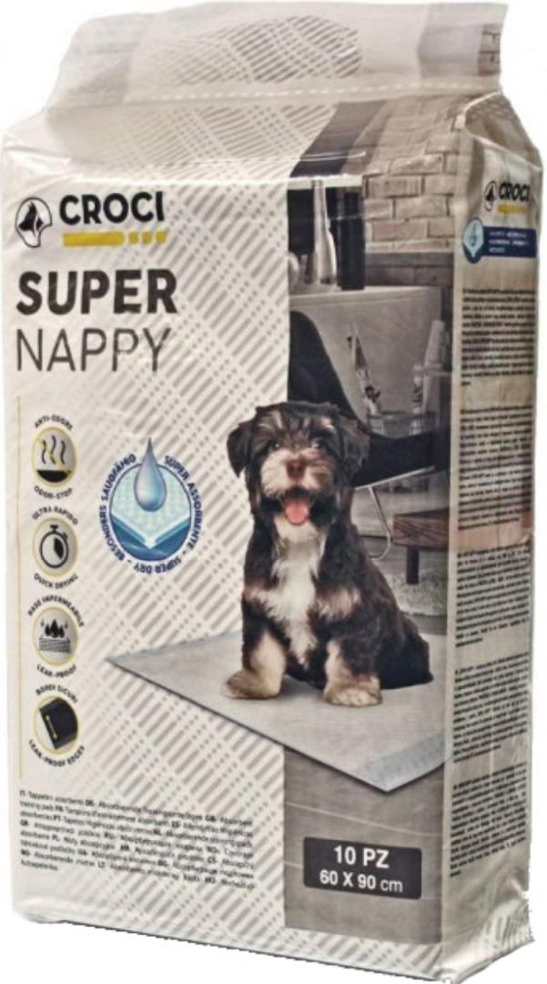 crocispa 012080 Croci Super Nappy Пеленки для собак 90х60, 10 шт