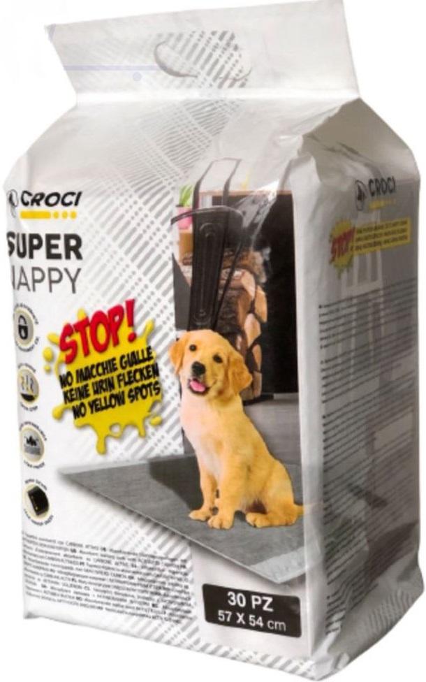 crocispa 171725 Croci Super Nappy Пеленки для собак с активированным углем 57х54, 30 шт