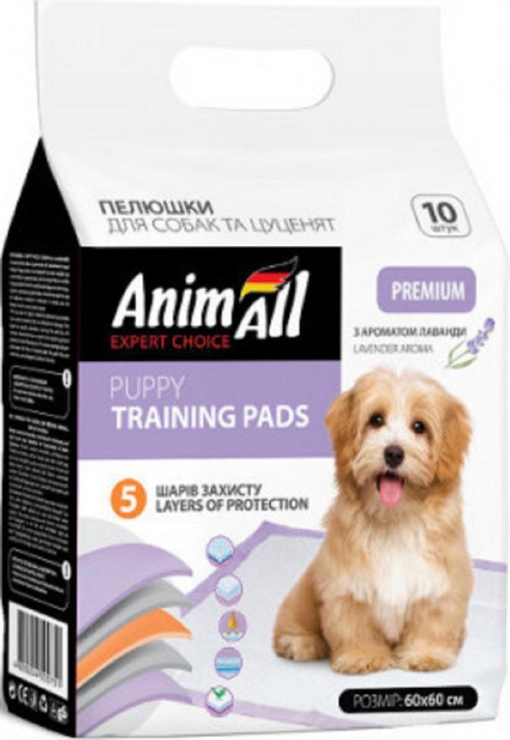 animall 500720 AnimAll Puppy Training Pads с ароматом лаванды для собак и щенков 60х60, 10 шт