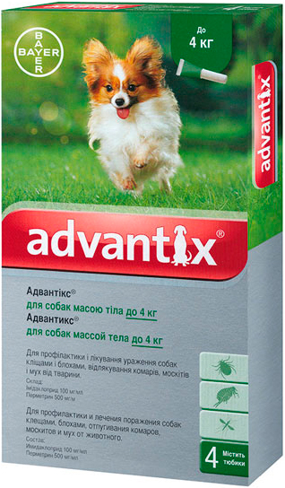 bayer Bayer Advantix для собак до 4 кг, 1 уп.