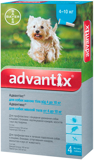 bayer Bayer Advantix для собак от 4 до 10 кг, 1 уп.