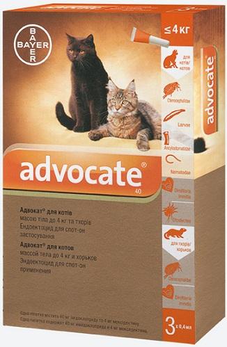 bayer Bayer Advocate для кошек до 4 кг, 1 пипетка