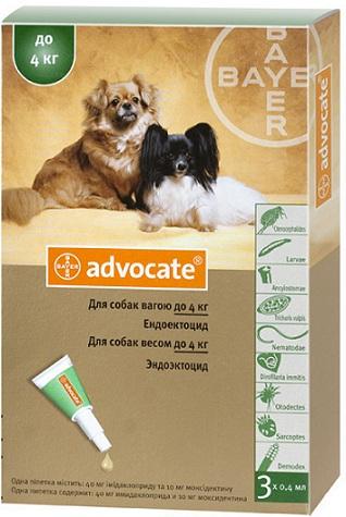 bayer Bayer Advocate для собак до 4 кг, 1 пипетка