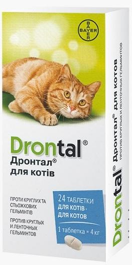 bayer Bayer Дронтал для кошек, 24 шт