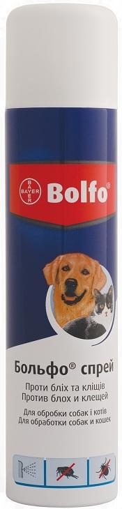 bayer Bayer Больфо спрей для котов и собак от блох и клещей, 250 мл