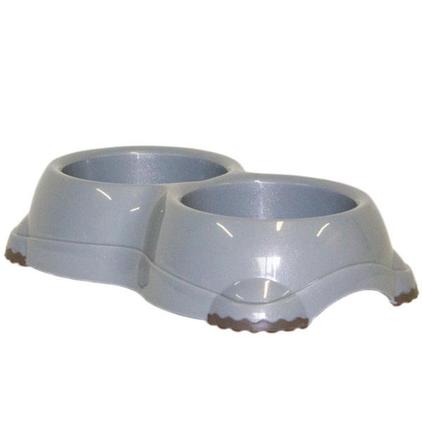 moderna H107026 Moderna Smarty Bowl Двойная пластиковая миска, серый