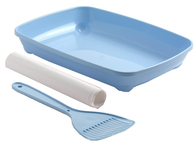 moderna C12009 Moderna Arist-o-tray Small Туалет для котят с лопаткой и пакетами, голубой