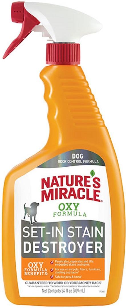 8in1 680396/8172 8in1 Nature's Miracle Oxy Formula Уничтожитель пятен и запахов для собак, 709 мл