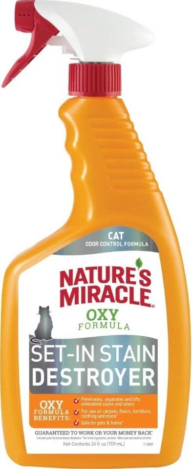 8in1 6803988in1 Nature's Miracle Orange Oxy Уничтожитель пятен и запахов для кошек, 709 мл