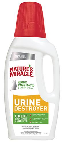 8in1 680067/7005 8in1 Nature's Miracle Urine Destroyer Уничтожитель пятен и запахов кошачьей мочи, 946 мл