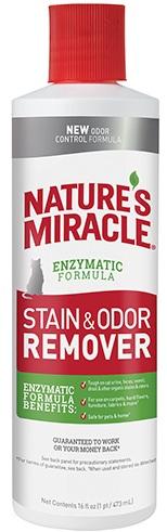 8in1 680043/6973 8in1 Nature's Miracle Stain & Odor Remover Уничтожитель кошачьих пятен и запахов, 473 мл