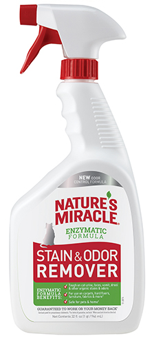 8in1 680111/6974 8in1 Nature's Miracle Stain & Odor Remover Спрей уничтожитель кошачьих пятен и запахов, 946 мл